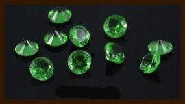 50st. Acryl Similisteentjes van 2.5mm: Licht Groen.