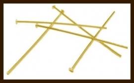 50st. Goudkleurige Nietstiften van 20mm.