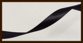 5 Meter: Satijn Lint van 10mm: Zwart.