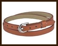 LSK922: Imitatieleren armband 38cm, geschikt voor schuifkralen. Kleur: Bruin.