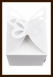 Geschenk Verpakking - Cadeau Doosje Vlinder: Wit.