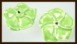 1st. Porselein Bloem XL: Groen.