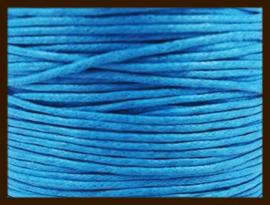 10 meter: Waxkoord van 1mm: Azuur Blauw.