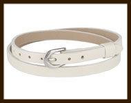 LSK921: Imitatieleren armband 38cm, geschikt voor schuifkralen. Kleur: Zandkleur.