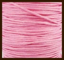 10 meter: Waxkoord van 1mm: Roze.
