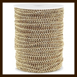 FW292: 1m Fashion Wire van 5mm: Brown-Gold