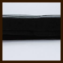 5m. Organza Lint: Zwart.