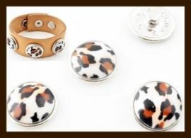 CH019: Chunk-Drukknoop-Easy Button van 18mm: Dierenprint.
