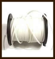 1 Meter Rubber Buna Koord Dicht van 2mm: Gebroken Wit.