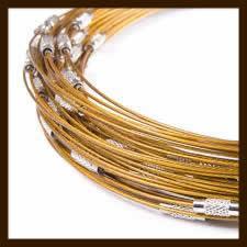 Spang Ketting: Goud-Geel.