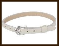 LSK911: Imitatieleren armband 15-22cm, geschikt voor schuifkralen. Kleur: Beige.