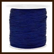 1m: Elastiek met een dikte van 1mm: Donker Blauw.