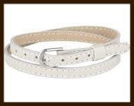 LSK929: Imitatieleren armband 38cm, geschikt voor schuifkralen. Kleur: Beige.