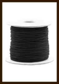 1m: Elastiek met een dikte van 1mm: Zwart.