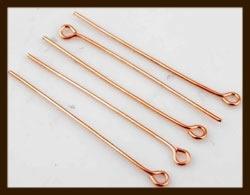 50st. Rose Goudkleurige Kettelstiften van 40mm.