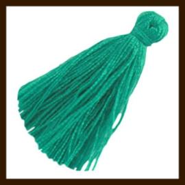KW.03: Stoffen Kwastje van 20mm: Emerald Green.