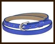 LSK920: Imitatieleren armband 38cm, geschikt voor schuifkralen. Kleur: Blauw.