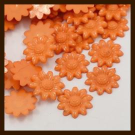 Acryl plaksteen Bloem van 20mm: Oranje.
