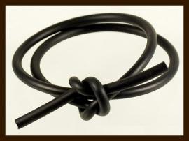 1 Meter Rubber Buna Koord 1mm: Zwart.