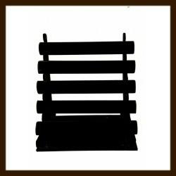 5-Rol Armband Display: Zwart Velours.