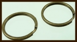 SHR019: Bronskleurige Sleutelring van 30mm.