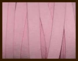 1 Meter IL019: Imitatie Leer van 10mm Breed: Oud Roze (donkerder dan op de foto).