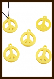 SH58:  Silicone Hanger: Peace Geel.