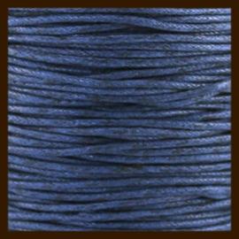 5 meter: Waxkoord van 1mm: Donker Blauw.
