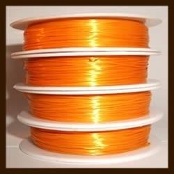 Rol Elastisch Plat Nylondraad 0.8mm , lengte 10m: Donker Oranje.