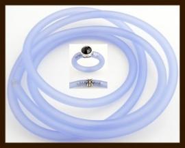 1 Meter Rubber Buna Koord 5mm: Licht Blauw.