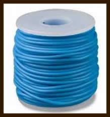 1 Meter Rubber Buna Koord Dicht van 2mm: Zee Blauw.