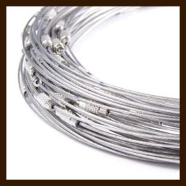 Spang Ketting van 46cm: Zilver.