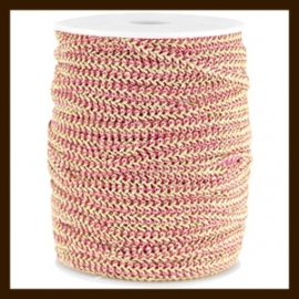 FW300: 1m Fashion Wire van 5mm: Fuchsia-Gold
