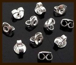 Ost.025: 10 stuks Echt Zilveren 925 Oorbellen Stoppers.