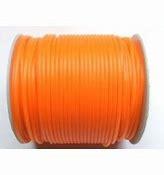1 Meter Rubber Buna Koord Hol van 2mm: Oranje.