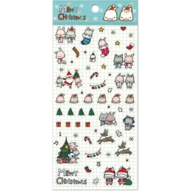 Christmas sticker sheet Happy Go Lucky