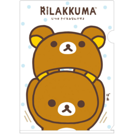 A4 file folder Rilakkuma Costume white