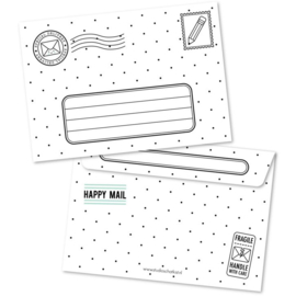 Envelope Special Delivery - black white