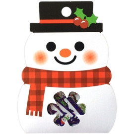 Snowman sticker sack