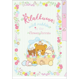A6 file folder Rilakkuma Rabbits