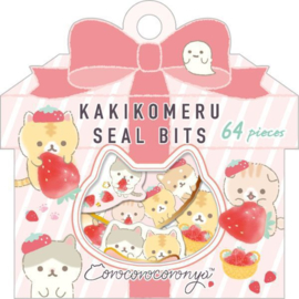 Kakikomeru Seal Bits Corocoro Coronya Strawberry