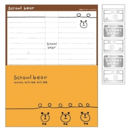 Briefpapier set Scrawl Bear