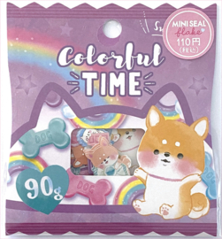 Sticker sack Colorful Time