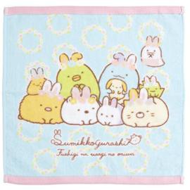 Sumikkogurashi Mysterious Rabbit towel | 34 x 34 cm