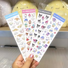 Stickervel Sanrio Characters | blauw