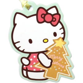 Hello Kitty Christmas Tree gift tag/mini kaart