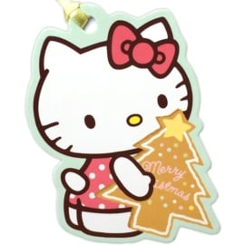Hello Kitty Christmas Tree gift tag/mini card