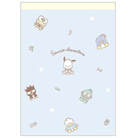 Memoblok groot Sanrio Characters | blauw
