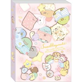 Memo pad large Sumikkogurashi Pajama Party pink