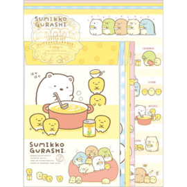 Briefpapier set Sumikkogurashi Shirokuma's Corn Soup